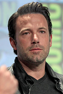 Ben Affleck looks directly at the camera