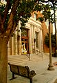 Bench an front of Bakersfield Californian Building.JPG