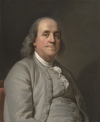 Benjamin Franklin. c. 1785. Oil by Duplessis
