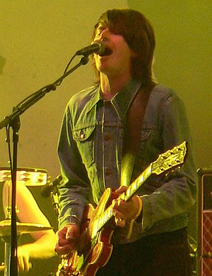 Suede (band) - Bernard Butler (shown here during a live performance with The Tears in 2005), left Suede in 1994 due to growing tensions between him and lead vocal Brett Anderson, with whom he finally made amends in 2003.