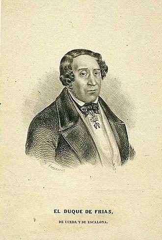 Bernardino Fernández de Velasco, 14th Duke of Frías - Image: Bernardino Fernández de Velasco y Benavides Duque de Frías