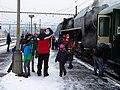 Beroun, Křivoklát expres (prosinec 2012), po připojení lokomotivy (01).jpg