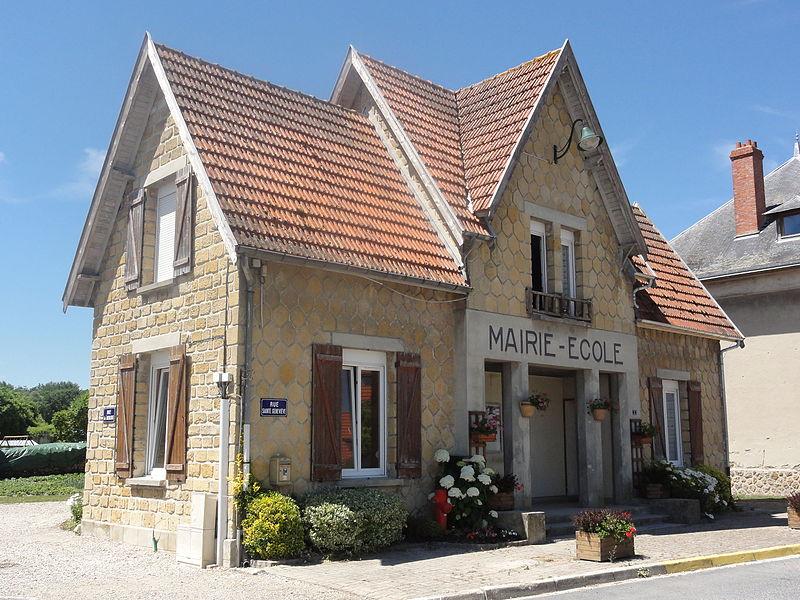 Bertricourt (Aisne) mairie-école