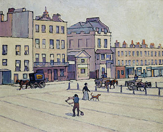 Cumberland Market - Robert Bevan. The Weigh House, Cumberland Market, c. 1914.