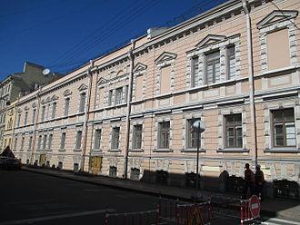 Alexander Bezborodko - Bezborodko Palace in Saint Petersburg - western façade (Pochtamskaya pereulok) (summer 2015)