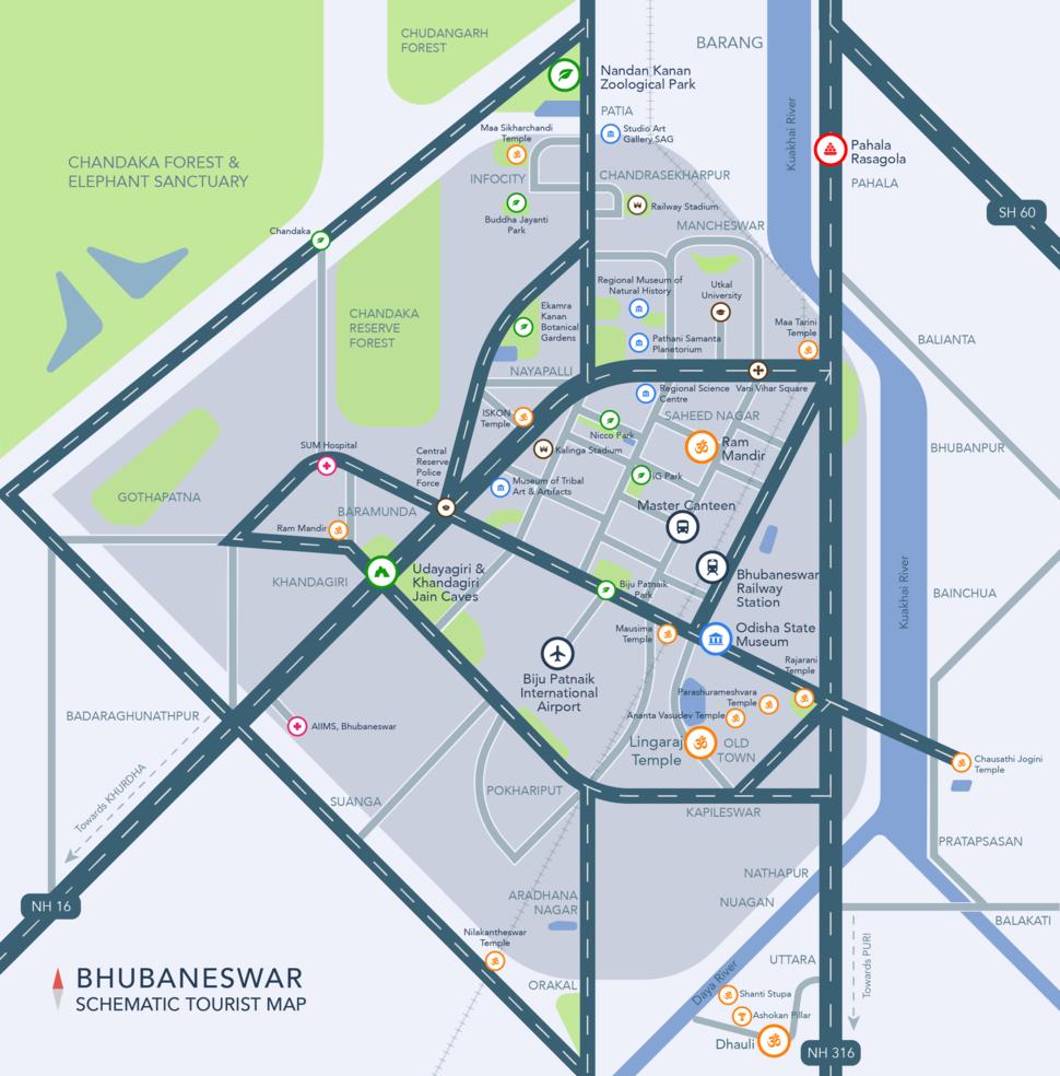 Bhubaneswar Map