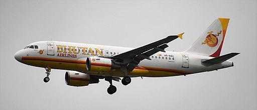 viajar a Bután Bhutan Airlines Airbus A319 (A5-BAC)