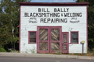 National Register of Historic Places listings in Cook County, Minnesota - Image: Bill Bally Blacksmithing