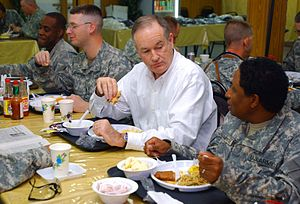 Bill O'Reilly (political commentator) - O'Reilly at Camp Striker, 2006