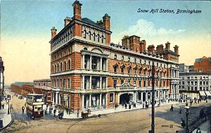 Birmingham Snow Hill railway station - The facade of the original Snow Hill on Colmore Row