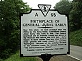 Birthplace of General Jubal Early Franklin County Virginia.JPG