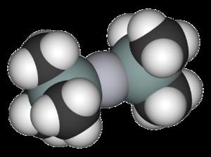 Bis(trimethylsilyl)mercury - Image: Bis(trimethylsilyl)m ercury 3D vd W