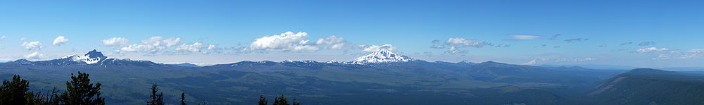 View to the northwest from the peak of Black Butte