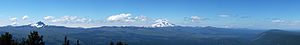 Black Butte (Oregon) - Image: Black Butte Peak Panorama 2012 2