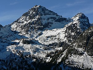 Black Peak, Washington, looking west-northwest