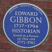 Blue Plaque - Edward Gibbon
