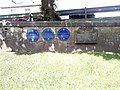 Blue plaques near A68 in Jedburgh.jpg