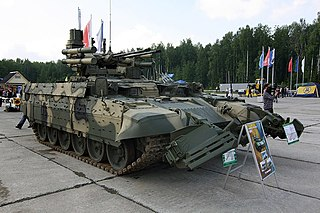 BMPT Terminator fire support combat vehicle