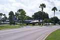 Boeing KB-50J-125-BO Superfortress 49-0389 displayed as 48-0114 RSideRear through trees MacDill Air Park 24July2010 (14444004408).jpg