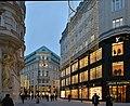 Bognergasse 4 Prada, Tuchlauben 3 Louis Vuitton, Wien.JPG