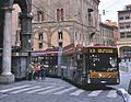 Bologna Autodromo trolleybus at Piazza Mercanzia, cropped.jpg