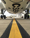 Bombardier CS100 at Brussels Airport (25272591679).jpg
