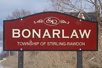 Stirling-Rawdon - Image: Bonarlawsign 20081228