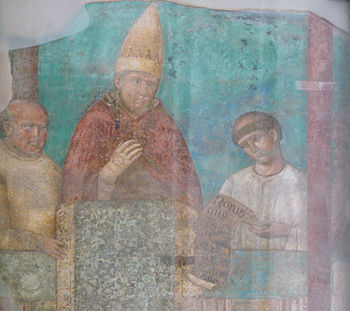Giotto: Pope Boniface VIII proclaims the holy year