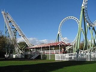 model of roller coaster built by Vekoma