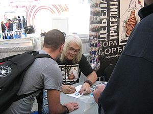 Bora Đorđević - Đorđević signing his books at the Belgrade Book Fair
