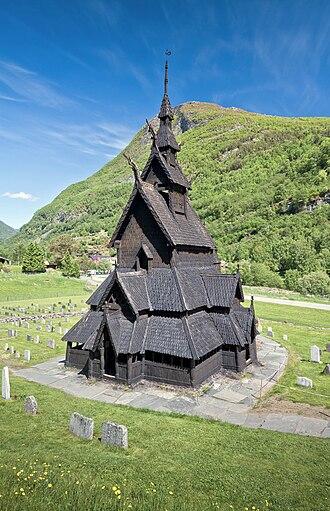 Borgund Stave Church - Image: Borgund Stave Church in Lærdalen, 2013 June