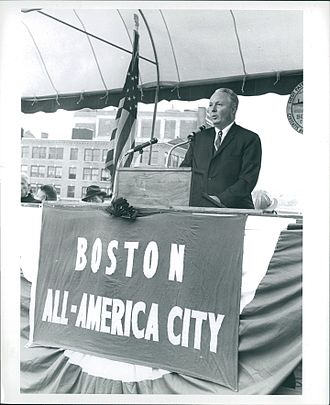 John F. Collins - Collins speaking at the groundbreaking of Boston City Hall in 1963.