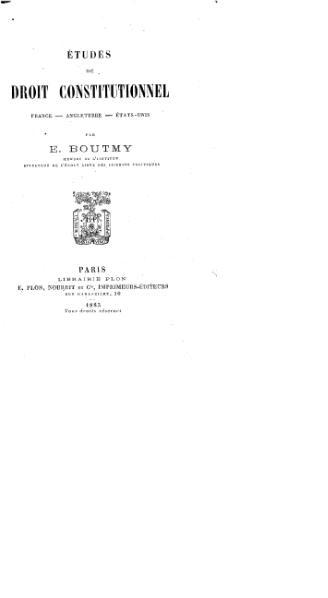 File:Boutmy - Études de droit constitutionnel.djvu