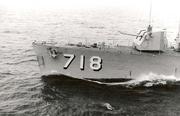 Bow of USS Hamner (DD-718), in 1971