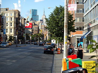 Bowery street and neighborhood in Manhattan