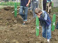 Boy at 2006 Srebrenica funeral