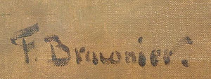 Frédéric Braconier - Signature of Frédéric Braconier (artist), photographed from the original of one of his paintings created in 1941.