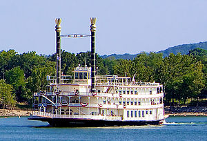 Showboat - The Showboat Branson Belle on Table Rock Lake, Branson, Missouri.