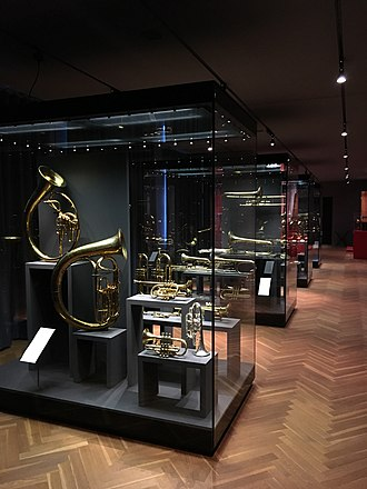 Music Museum (Basel) - Temporary exhibit hall housing recent brass instruments