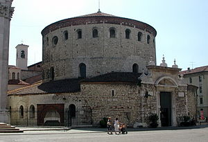 Old Cathedral, Brescia - The exterior of the cathedral