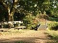 Bridge and seat on Oughtonhead Common - geograph.org.uk - 245109.jpg