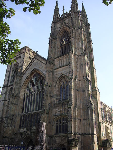 Bridlington Priory in Yorkshire; dissolved in 1537 due to the attainder of the prior for treason following the Pilgrimage of Grace BridlingtonPriory.JPG