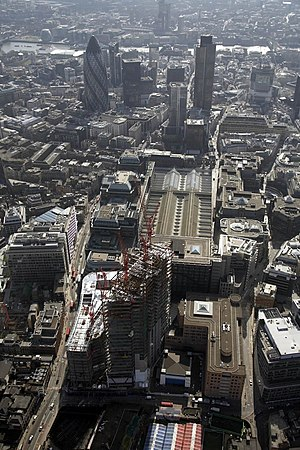 Aerial view of the Broadgate Tower, London