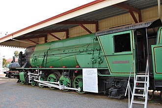 Southern & Silverton Rail - Preserved W24 at  Sulphide Street Museum, Broken Hill in August 2009