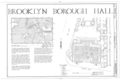 Brooklyn City Hall, 209 Joralemon Street, Brooklyn, Kings County, NY HABS NY,24-BROK,42- (sheet 1 of 11).png