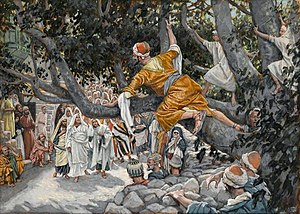 Zacchaeus in the Sycamore Awaiting the Passage of Jesus