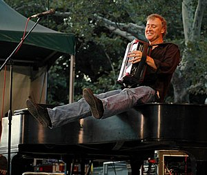 Bruce Hornsby - Hornsby playing accordion in New York's Central Park