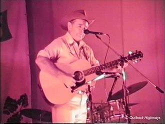 Buddy Williams (country musician) - Buddy Williams on stage in Bourke, NSW, Australia, 1984