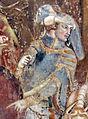 Buffalmacco, trionfo della morte, incontro dei tre vivi coi tre morti 26 cavaliere.jpg