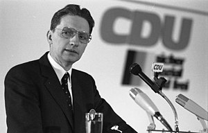 Wolfhart Pannenberg - Pannenberg speaking at a CDU conference in Bonn, 1983